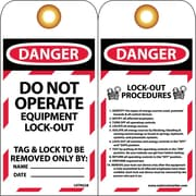 Lockout Lockout Tags, Lockout, Danger Do Not Operate. . ., 6X3, Unrippable Vinyl