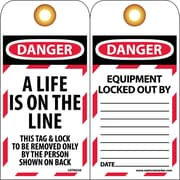 Lockout Lockout Tags, A Life Is On The Line, 6 X 3/4, Unrippablepable Vinyl