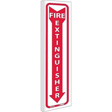 Fire Extinguisher (Dbl Faced Flanged), 18X4, Rigid Plastic