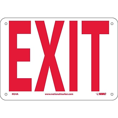 Exit, 7X10, .040 Aluminum
