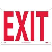 Exit 10X14 Rigid Plastic