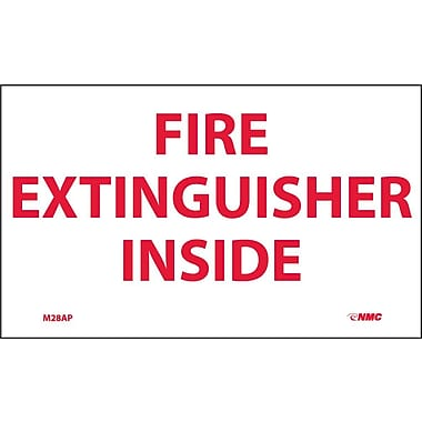 Labels Fire Extinguisher Inside, 3