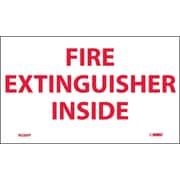 Labels - Fire Extinguisher Inside, 3X5, Adhesive Vinyl, 5/Pk