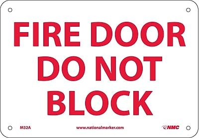 Fire Door Do Not Black, 7X10, .040 Aluminum