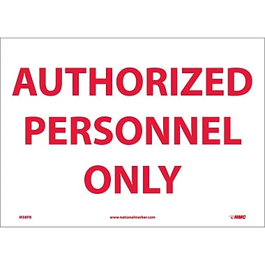 Authorized Personnel Only, 10X14, Adhesive Vinyl