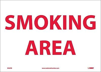 Smoking Area, 10X14, Adhesive Vinyl
