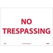 No Trespassing, 10X14, Adhesive Vinyl