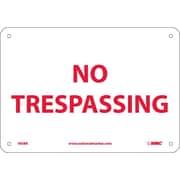 No Trespassing, 7X10, Rigid Plastic