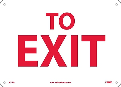 To Exit, 10X14, Rigid Plastic