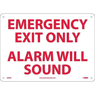 Emergency Exit Only Alarm Will Sound, 10