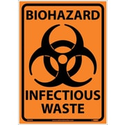 Biohazard Infectious Waste, 10X14, Adhesive Vinyl