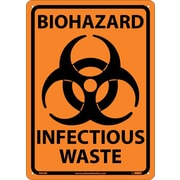 Biohazard Infectious Waste, 10X14, Rigid Plastic