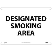 Designated Smoking Area 10X14, Rigid Plastic