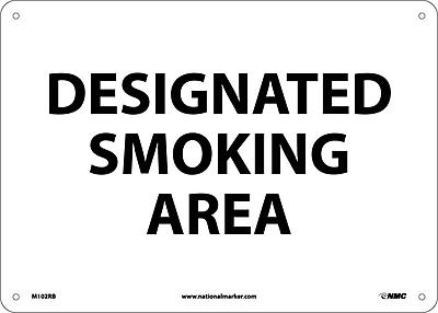 Designated Smoking Area 10X14, Rigid Plastic
