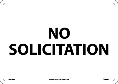 No Solicitation, 10X14, .040 Aluminum