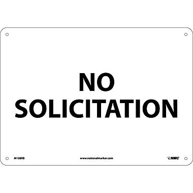 Panneau « No Solicitation », 10 x 14 po, plastique rigide