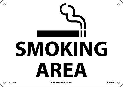 Smoking Area, Graphic, 10X14, Rigid Plastic