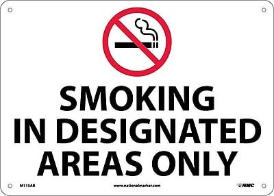 Smoking In Designated Areas Only, Graphic, 10X14, .040 Aluminum