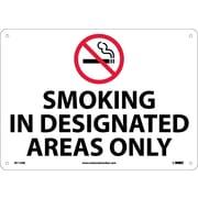 Smoking In Designated Areas Only, Graphic, 10X14, Rigid Plastic