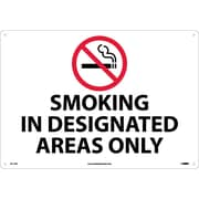Smoking In Designated Areas Only, Graphic, 14X20, Rigid Plastic