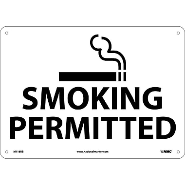 Smoking Permitted, Graphic, 10X14, Rigid Plastic