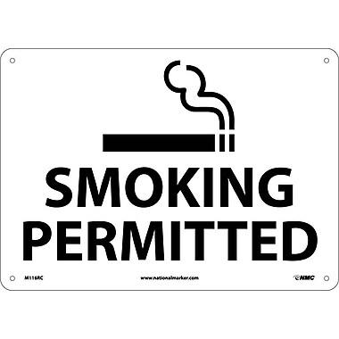 Smoking Permitted, Graphic, 14X20, Rigid Plastic