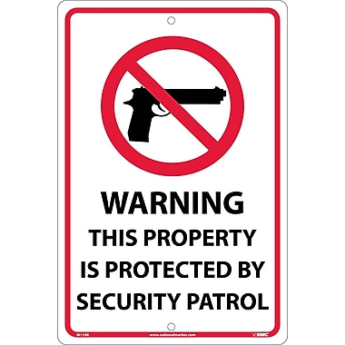 Warning This Property Is Protected By Security Patrol, Graphic, 18