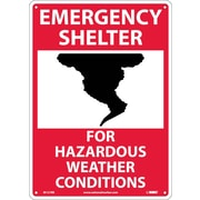 Emergency Shelter For Hazardous Weather Conditions, Graphic, 14X10, Rigid Plastic