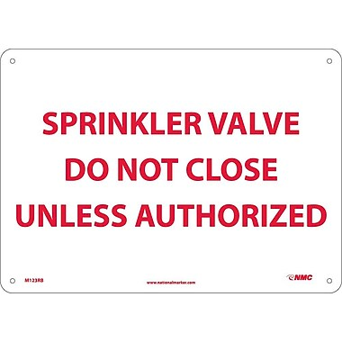 Sprinkler Valve Do Not Close Unless Authorized, 10