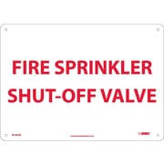 Fire, Sprinkler Shut Off Valve, 10X14, .040 Aluminum