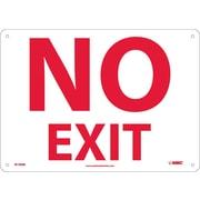 """No Exit, 10"""" x 14"""", Rigid Plastic"""