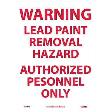 Warning Lead Paint Removal Hazard Authorized.., 14X10, Adhesive Vinyl