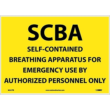 Scba Self Contained Breathing Apparatus, 10X14, Adhesive Vinyl