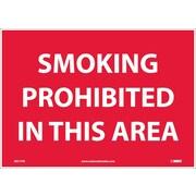 Smoking Prohibited In This Area, 10X14, Adhesive Vinyl