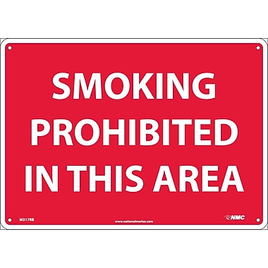 Smoking Prohibited In This Area, 10X14, Rigid Plastic