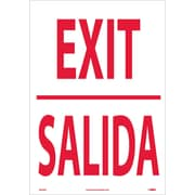 Exit (Bilingual), 20X14, Adhesive Vinyl
