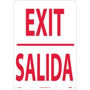 Exit (Bilingual), 20X14, Rigid Plastic