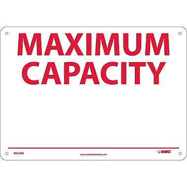 Maximum Capacity _______, 10X14, Rigid Plastic