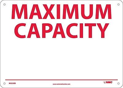 Maximum Capacity _______, 10X14, Rigid Plastic