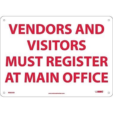 Vendors & Visitors Must Register At Office, 10