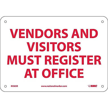Vendors & Visitors Must Register At Main Register At Main Office, 7