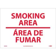 Smoking Area (Bilingual), 10X14, Adhesive Vinyl