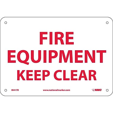 Fire Equipment Keep Clear, 7X10, Rigid Plastic