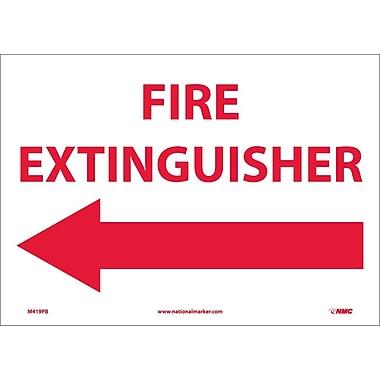 Fire Extinguisher (With Left Arrow), 10X14, Adhesive Vinyl