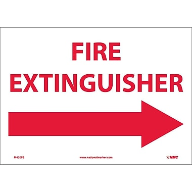 Fire Extinguisher (With Right Arrow), 10X14, Adhesive Vinyl