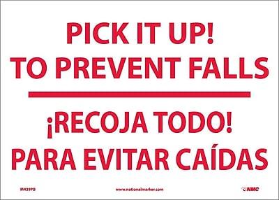 Pick It Up! To Prevent Falls Recoja Todo (Bilingual), 10X14, Adhesive Vinyl