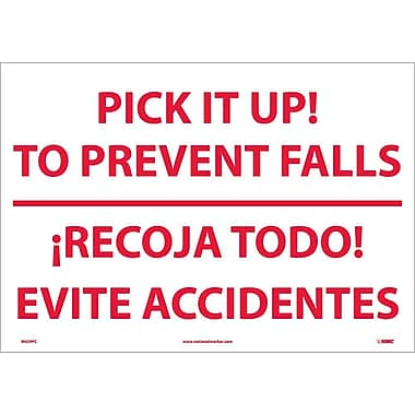 Pick It Up! To Prevent Falls Recoja Todo (Bilingual), 14X20, Adhesive Vinyl