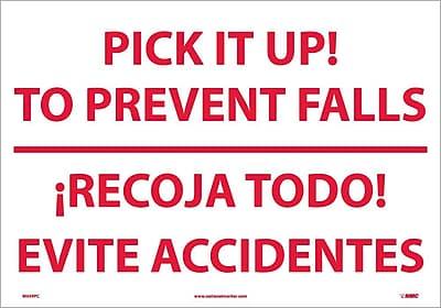 Pick It Up! To Prevent Falls Recoja Todo (Bilingual), 14X20, Adhesive Vinyl