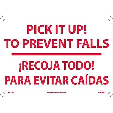 Pick It Up! To Prevent Falls Recoja Todo. . . (Bilingual), 10X14, Rigid Plastic