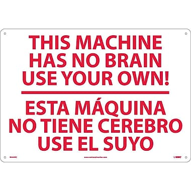 This Machine Has No Brain Etc Solo Ud Ti (Bilingual), 14X20, Rigid Plastic